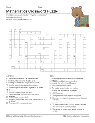 math worksheet : math vocabulary worksheets : Math Crossword Puzzle Worksheets